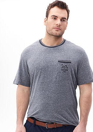 Melirana majica s prsnim žepom