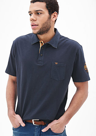 Polo shirt with embroidery from s.Oliver