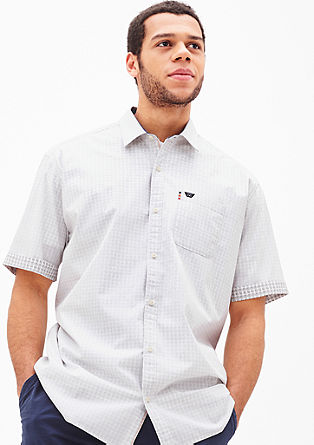 Regular: Cotton shirt with contrasts from s.Oliver