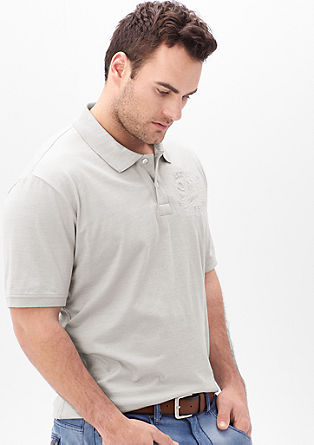 Polo shirt with embossed label from s.Oliver