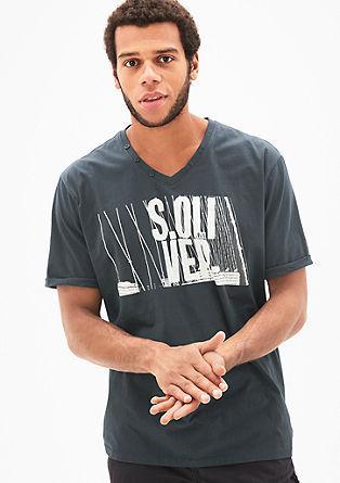Printshirt mit V-Neck