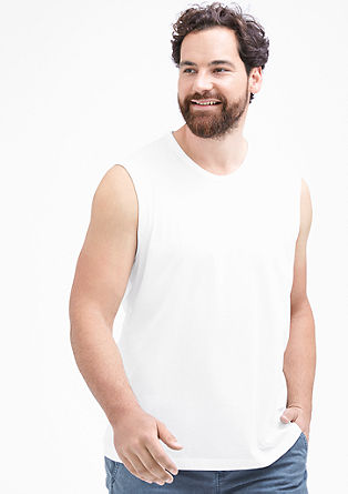 Plain coloured basic tank top from s.Oliver