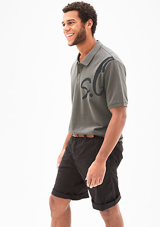 Polo shirt with a label print from s.Oliver