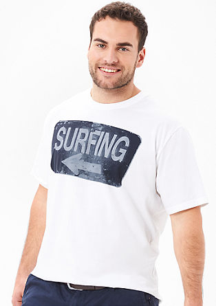 Shirt met surferprint