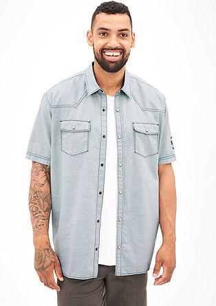 Regular: Hemd mit Druckknöpfen