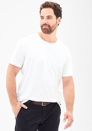 T-shirt with a vintage round neckline from s.Oliver