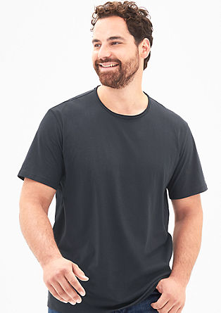 T-Shirt mit Vintage-Rundhals