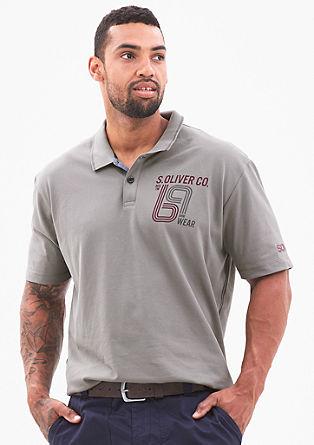Stretch-Poloshirt mit Print