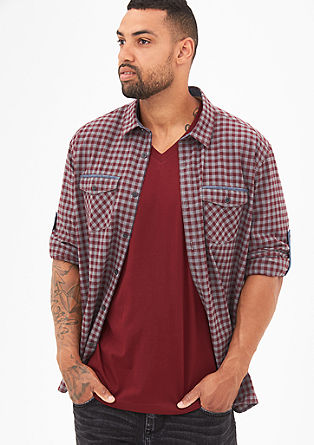 Regular: gingham check shirt from s.Oliver