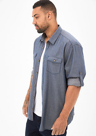 Regular: shirt with turn-up sleeves from s.Oliver