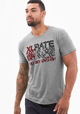 Jerseyshirt mit Flock-Print