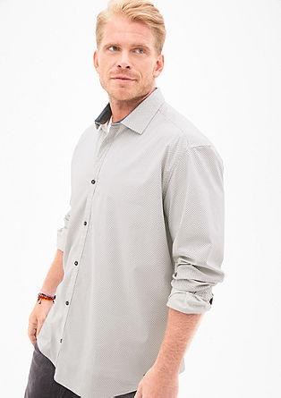 Regular: Hemd mit Minimalmuster