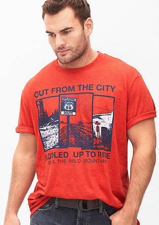 T-shirt with a city print from s.Oliver