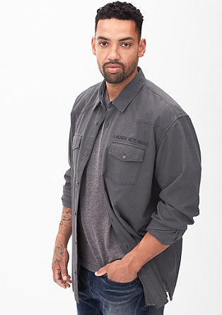 Regular: Twill checked shirt from s.Oliver