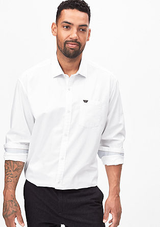 Regular: cotton shirt with a shark collar from s.Oliver