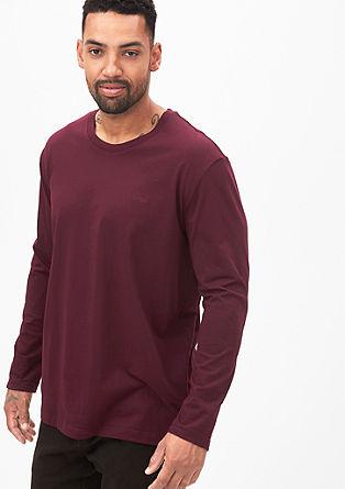 Unifarbenes Jersey-Longsleeve