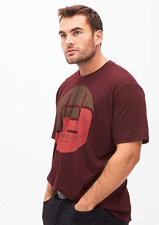 T-Shirt mit rundem Print