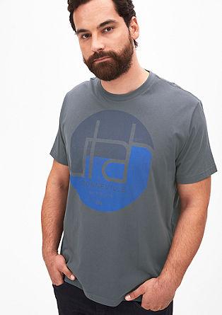 Majica kratek rokav z okroglim potiskom