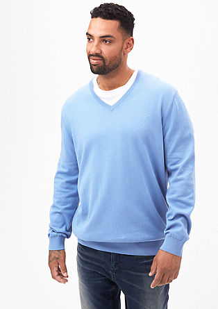 Fine knit jumper with a V-neckline from s.Oliver