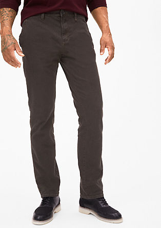 Scube Relaxed: chinos with a textured pattern from s.Oliver