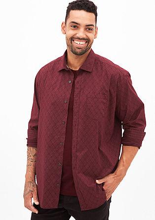 Regular: Gemustertes Langarmhemd