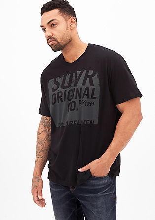 T-Shirt mit Unicolor-Print