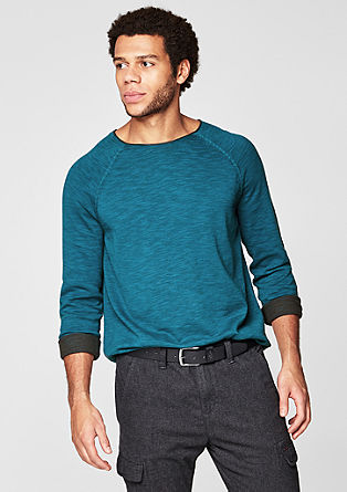 Knit jumper with a melange finish from s.Oliver