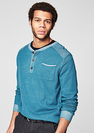 Pigment-dyed Henley jumper from s.Oliver