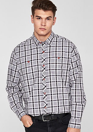 Regular: karirasta streč srajca