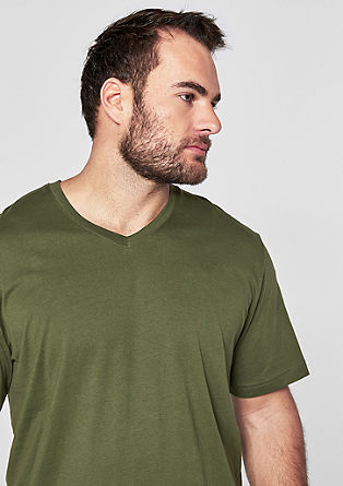 Baumwollshirt mit V-Neck