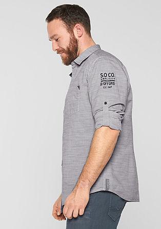 Regular: Strukturiertes Hemd