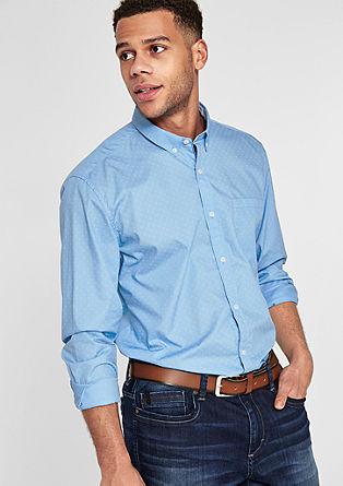 Regular: Gemustertes Button-Down-Hemd
