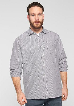 Regular: Oxfordhemd mit Print