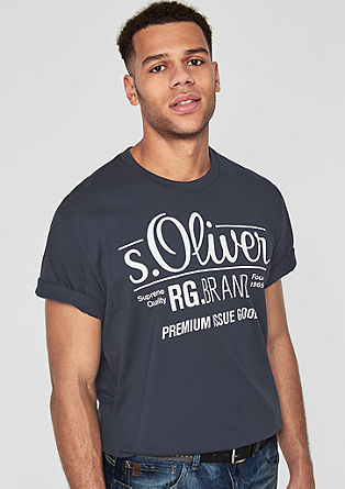 Basicshirt mit Label-Print