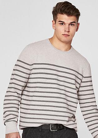 Pullover mit Streifenstruktur