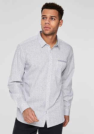 Regular: Hemd mit Allover-Muster