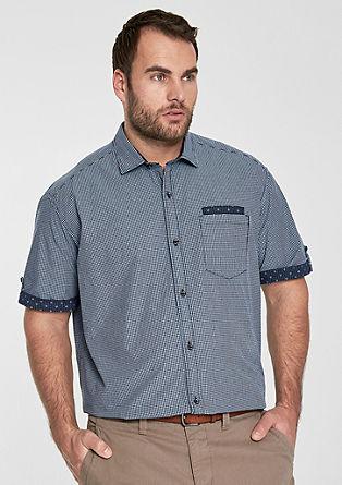 Regular: Gemustertes Kurzarmhemd