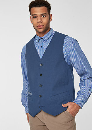 Waistcoat with a button placket from s.Oliver