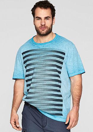 Cold Pigment Dye-Shirt mit Print