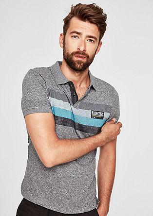 Tall Size: Poloshirt mit Blockstreifen
