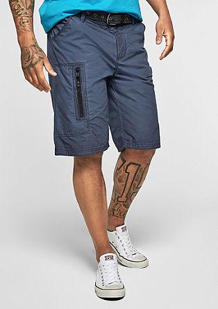 File Loose: bermuda hlače z velikimi žepi s pasom