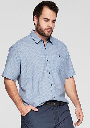Regular: Kurzarmhemd mit Muster