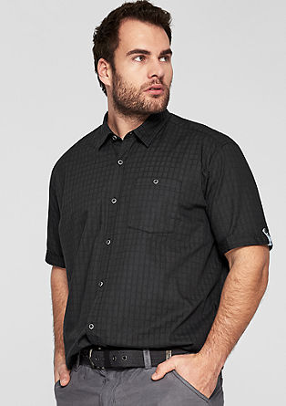 Regular: Hemd mit Strukturmuster