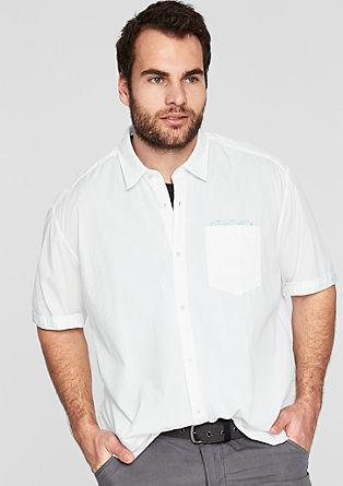 Regular: Lässiges Baumwollhemd