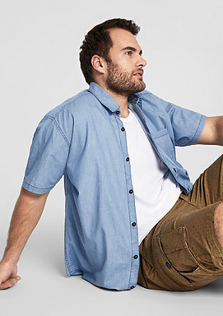 Regular: Leichtes Jeans-Hemd
