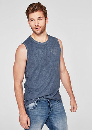 Slub tank top with a dye effect from s.Oliver