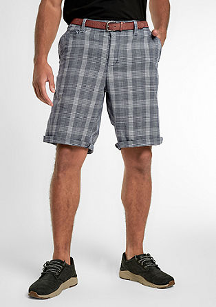 File Loose: Checked twill Bermuda shorts from s.Oliver