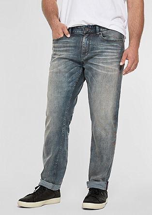 Scube Relaxed: obrabljene jeans hlače