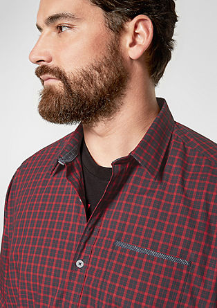 Regular: shirt with a check pattern from s.Oliver