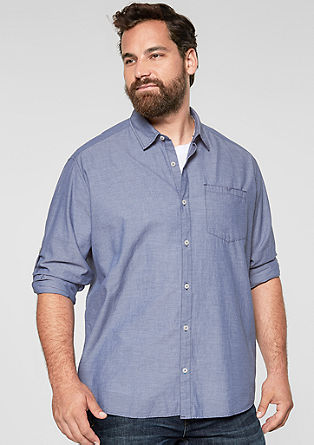Regular: shirt with woven stripes from s.Oliver